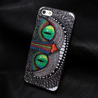 1 PCS The cat Owl Hard case for iphone 4 hard back cover Hongkong post
