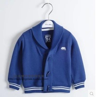 Autumn children cotton sweater baby boy baby horn button cardigan jacket lapel England