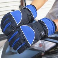 Men's ski gloves waterproof warm winter plus thick velvet gloves motorcycle gloves windproof cycling