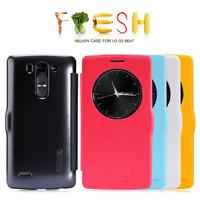 G3 Beat Smart case,Original NILLKIN Fresh series Flip PU Leather Case For LG G3 Beat G3 mini Sleep/wake up  + Retail  +freeship