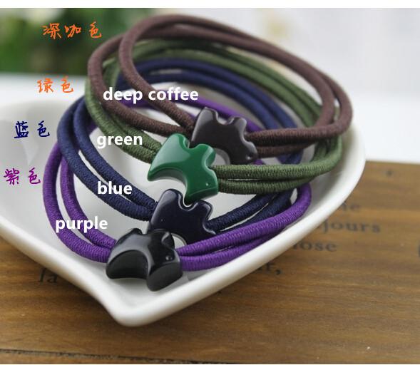 Free Shipping Headwear Simple Fashion Dog Hair Rubber Band Head Flower Jewelry Ring Bottoming Headdress PJ07079808090(China (Mainland))