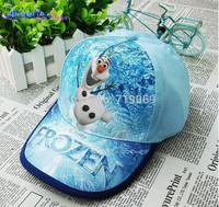 6pcs/lot Kids New Summer Hats Frozen Anna and Elsa Snapback Girls Baseball Caps Frozen Hats Children Hat Forzen Baseball Caps