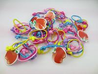 5pcs/lot 2014 New Arrive cartoon Hair rope Elastic Hair Rubber Band girl headwear Hair Accessories