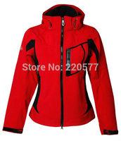 Free Shipping 2014 New Women Winter SoftShell Jacket Fashion Denali Brand Windproof Waterproof Camping Casual Down Hooded Jacket