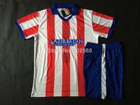 Best quality 2014/15 Madrid red/white Soccer Shirt KOKE GRIZMANN MANDZUKIC ARDA GABI football soccer jersey & shorts kit 20115
