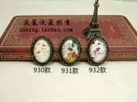 Weinstein handmade accessories 930 - - time gem vintage 2-illust brooch corsage flower bird