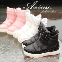 2014 new brand fashion rivet high top kids sneakers sport shoe for toddler girl boy sapato infantil menina children running shoe