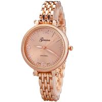 Women Dress Watches Women's Fashion Watches Bracelet Watch Rose Gold Wristwatches 2014 Free shipping 4Colors