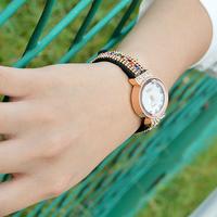 New fashion Korea velvet belt Multicolor dial plate set auger women watch elegant Watches