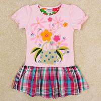 2014 Christmas Peppa Free Shipping Flower Decoration Tutu Girl Dress Kids Outwear Child Summer Clothing Princess Petticoat H5236