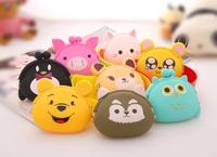 5pcs/lot Crazy sales silicone coin bag key wallets women & men bolsas femininas kids party supplies handbag support mix shapes