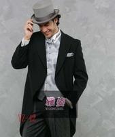 Groom suit morning coat Wedding Groomsman cutaway men suit