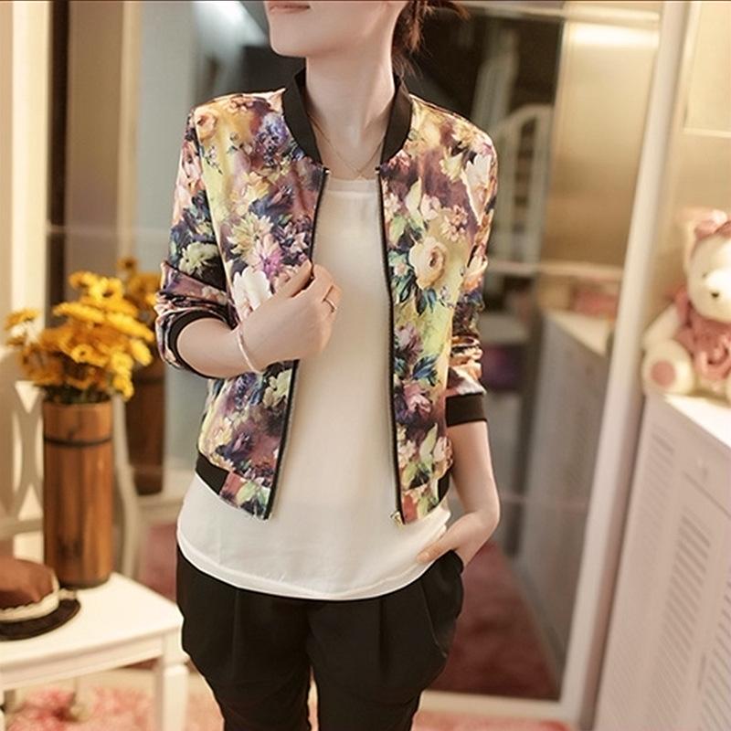 Bomber Jacket Pattern Floral Bomber Jacket Print