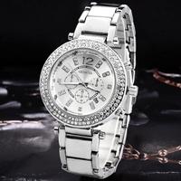 2014 Women's Fashion Rhinestone Watches Feminine Geneva Bracelet Watch Women Dress Watches New Clock Wristwatches