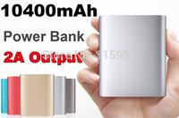 Original 2A 10400mAh Power Bank Portable CellPhone Li-ion Battery Charger For Apple iPhone6 5 5S iPad Mini Samsung