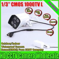 Free shipping  CCTV Outdoor camera SONY CMOS 1000TVL Security Surveillance Camera IR 30 meter Waterproof Camera Array Camera