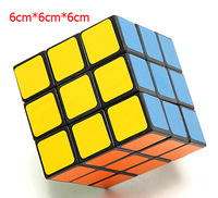 Free shipping, professional size 6cm Stickerless speed smooth Magic Cube 3x3x3, dayan  jigsaw puzzle toys for children