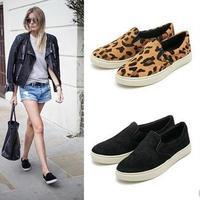 Free shipping 2014 women flats leopard sweet design women shoes Fashion leopard girl style Flats Ballet shoes