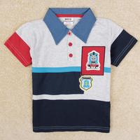 Nova 2014 New kids cartoon Thomas number 1 t-shirt boys short sleeve cotton tees tops children summer t shirts outwear C5189