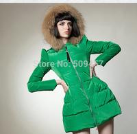 Korean yards Women Girls long paragraph Slim thicker Nagymaros collar down jacket