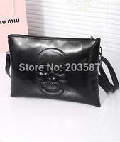 free shipping new wave of women's envelope clutch bag shoulder diagonal Kito nightclub punk skull bag