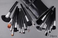 Free shipping EMS/DHL!!!New brand mc Makeup Make up 24pcs  Brushes Brush Kit With Pouch Set (10pcs/lot)