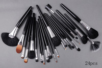 wholesale 5sets/lot  brand mc Makeup 24pcs  Brushes Brush Kit With Pouch Set + free shipping by DHL /EMS