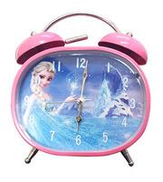 Frozen Elsa Alarm Desk Clock Room Decor Silent Snooze Alarm Clock 2 Designs Kids Christmas Gifts Clock 10pcs/Lot Free Shipping