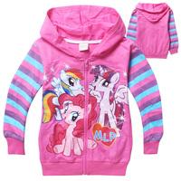 Wholesale 5pcs/lot Children Outerwear My Little Pony Jacket Kids Girls cartoon Terry Zipper Coat Hoodies Jackets Roupas Infantil