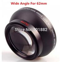 62mm Wide Angle Lens Converter 0.45X wide angle lens Super High Resolution Deluxe Digital Lenses for all DSLR camera