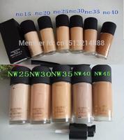 Free Shipping ,Brand mc Make up Liquid Foundation SPF 15 M -C base Foundation 30ML (NC15,NC20,NC25,NC30,NC35,NC40)