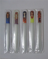 beautiful girl coated glass Nail Files Durable Crystal nail File Glass Nail Art Buffer File Manicure Tool (mini order $6)