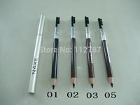 Wholesale High Quality 4 Color Cosmetics nake Makeup Pen Waterproof Eyebrow Eye Liner Pencil 100pcs\lot+Free shipping DHL/EMS