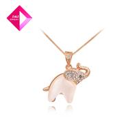 D&Z Opal necklace rose gold elephant Fashion necklace series