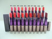 Free HK post 10pcs/lot NEWEST brand name nake lipstick ,profession 20color u-d lipstick +good quality