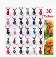 100pc/lot Factory Sale New Colorful Handmade Adjustable Dog Ties Pet Bow Ties Cat Neckties Dog Grooming Supplies