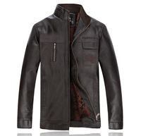 black PU winter leather jacket men casual fleece jaqueta de couro masculina 4XL 6XL SIZE mens motorcycle jacket BW5