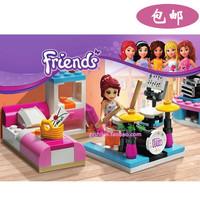 friends compatible  building blocks assembled magician girl friends house boat yacht