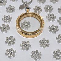 christmas holiday snowflake floating charms for glass locket