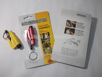 50pcs/lot Mini Car Window AUTO Emergency Hammer Belt Cutter Tool