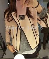 2014 New Arrival brand designer woman coats fashion female cotton rider jacket casual slim wool winter woman short outwear