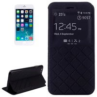 Horizontal Flip Leather Case with Call Display ID & Holder + High Quality HD Screen Protector for iPhone 6, free shipping