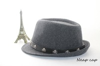 Free shipping good quality imported woolen women Fedoras men hat jazz hat autumn and winter performances