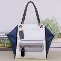 2014 New women patchwork leather handbags shoulder-bag