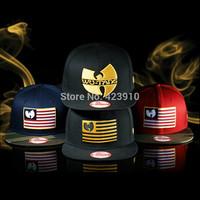 "2014 New Retro  High-quality  ""WU Tang""  Men Flat Brim Snapback Hip Hop Rap Hat Baseball Cap Adjustable"