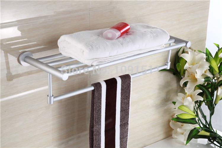 the hanging rod Bath towel rack Towel bath hardware set Aluminum alloy Kitchen & Bath Fixtures Bath towel rack A35(China (Mainland))