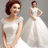 Slim word shoulder wedding dress 2014 lace halter strap Flower Princess Bride Qi new
