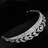 1 pcs Top quality Luxury Classic Bride Rhinestone crystal Bridal Hair Crown Bridal Hair Crown Tiara Wedding Jewelry Accessories