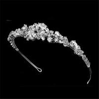 Bridal wedding tiara crown silver large rhinestone the bride hair accessory hair accessory cosmetic accessories