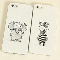 free shipping Wholesale 1pcs Cartoon zebra cute Elephant Design Hard Back Case Cover for apple iPhone 6 4.7 inch anime case